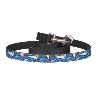 Abstract Blue Ice Crsytal Pattern Pet Lead