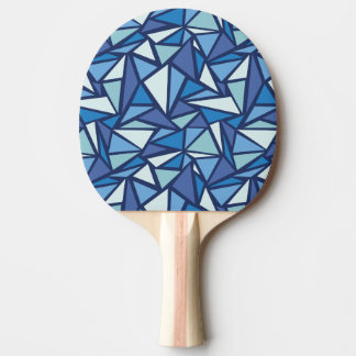 Abstract Blue Ice Crsytal Pattern Ping Pong Paddle