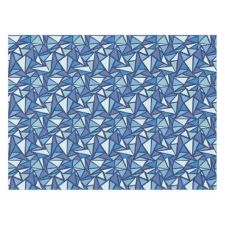 Abstract Blue Ice Crsytal Pattern Tablecloth