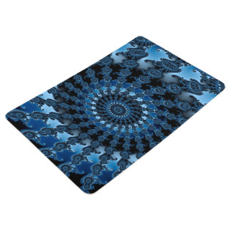 Abstract Blue Ice Pattern Floor Mat