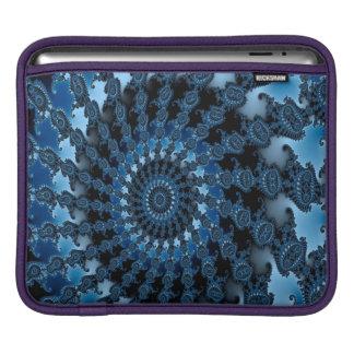 Abstract Blue Ice Pattern iPad Sleeve