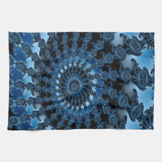 Abstract Blue Ice Pattern Tea Towel