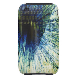 Abstract Blue iPhone Case iPhone 3 Tough Case