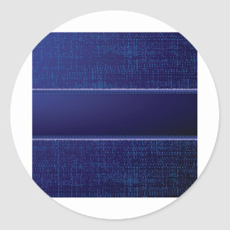 Abstract blue jeans classic round sticker