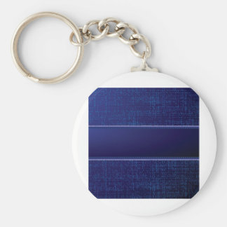 Abstract blue jeans key ring
