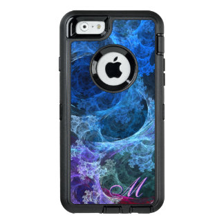 Abstract Blue Lacy Waves and Swirls OtterBox iPhone 6/6s Case