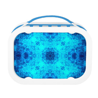Abstract Blue Lacy Waves Lunch Box