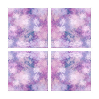 Abstract Blue, Lilac, Pink Acrylic Look Painting Gallery Wrap Canvas
