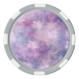 Abstract Blue, Lilac, Pink Acrylic Look Poker Chips