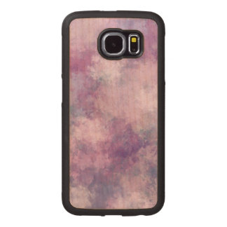 Abstract Blue, Lilac, Pink Acrylic Look Wood Phone Case