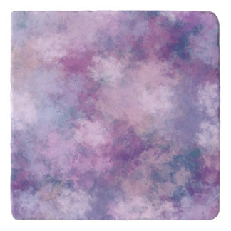 Abstract Blue, Lilac, Pink Trivet