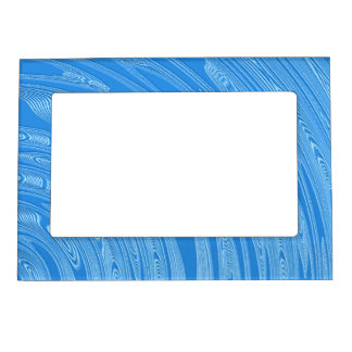 abstract blue metallic texture magnetic picture frame