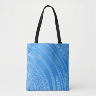 abstract blue metallic texture tote bag