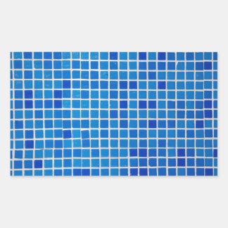 Abstract Blue Mosaic Rectangular Sticker