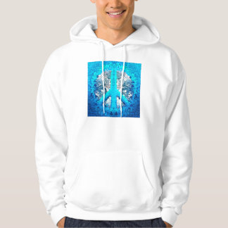 Abstract Blue Peace Sign Hoodie