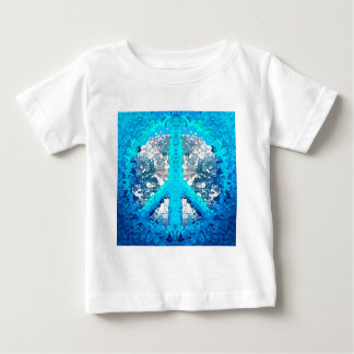Abstract Blue Peace Sign T-shirt