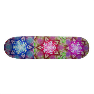 ABSTRACT BLUE PINK PURPLE STARS 19.7 CM SKATEBOARD DECK