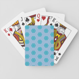 Abstract blue playing card