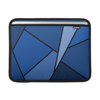 Abstract Blue Polygons Sleeve For MacBook Air