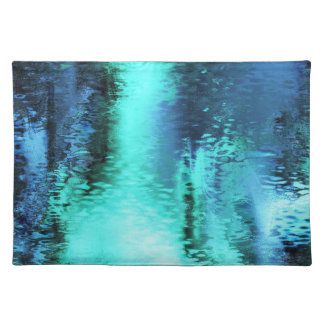 Abstract blue reflection placemats