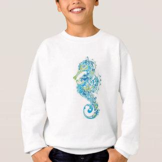 Abstract Blue Seahorse Sweatshirt