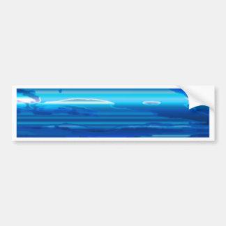 Abstract Blue Sky Bumper Sticker