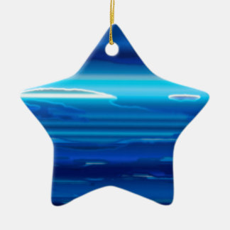 Abstract Blue Sky Christmas Ornament
