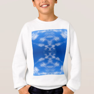 Abstract blue sky cloudscape sweatshirt