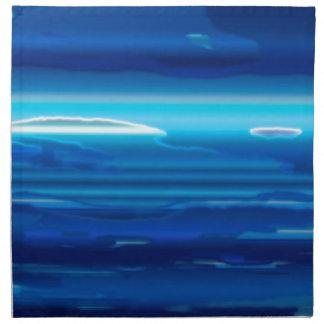 Abstract Blue Sky Napkin