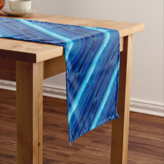 Abstract Blue Sky Short Table Runner
