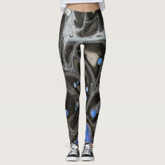 Abstract Blue Space Leggings