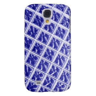 Abstract blue squares design galaxy s4 case