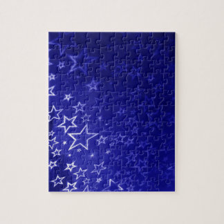 Abstract blue star background design jigsaw puzzle