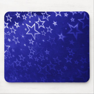 Abstract blue star background design mouse mat