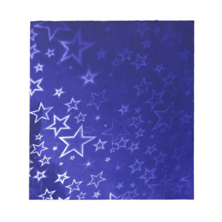 Abstract blue star background design notepad