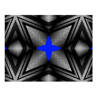 Abstract Blue Star Postcard
