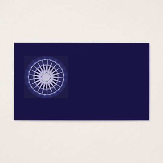 abstract blue starburst business card