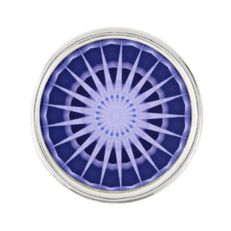 Abstract blue starburst lapel pin
