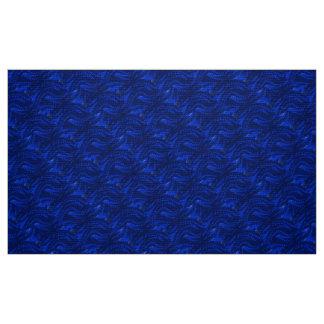 Abstract Blue Swirl Pattern Fabric