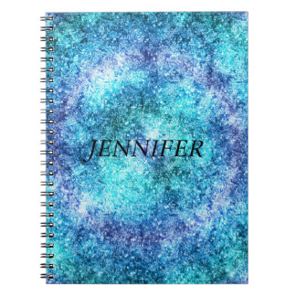 Abstract Blue  Teal Design Notebooks