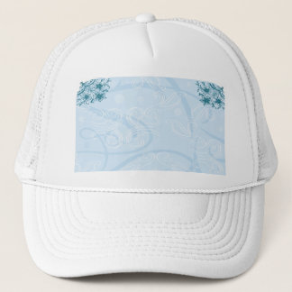 abstract blue texture hat
