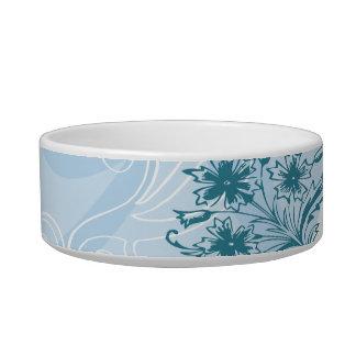 abstract blue texture Pet Bowls