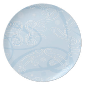 abstract blue texture plate