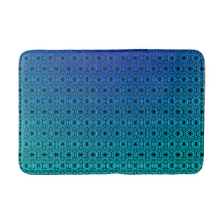 Abstract Blue to Turquoise Bath Mat