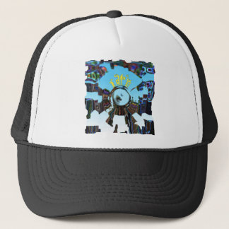 Abstract Blue Trucker Hat