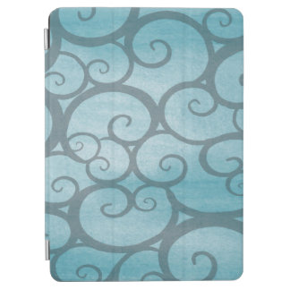 Abstract Blue Twirl Patterns iPad Air Cover