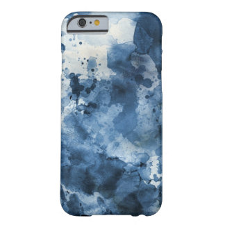 Abstract blue watercolor background barely there iPhone 6 case