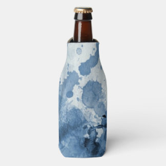 Abstract blue watercolor background bottle cooler