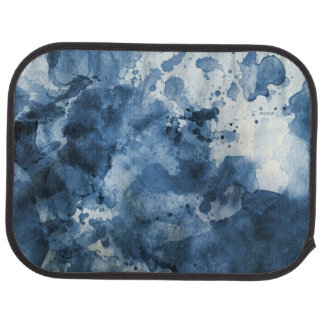 Abstract blue watercolor background car mat
