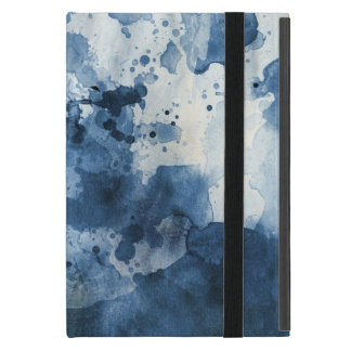 Abstract blue watercolor background cases for iPad mini